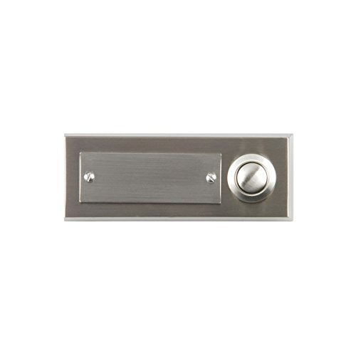 Unitec 41105 Surface-Mounted Door Bell Push Button 2-Channel Stainless Steel by Unitec