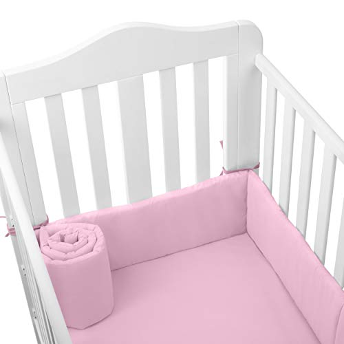 Babydoll Tailored Baby Cradle Bumpers, Pink, 18