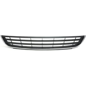 Amazon.com: CarPartsDepot 363-45204 Front Bumper Lower Grille Black VW1036120 Chrome Trim ...