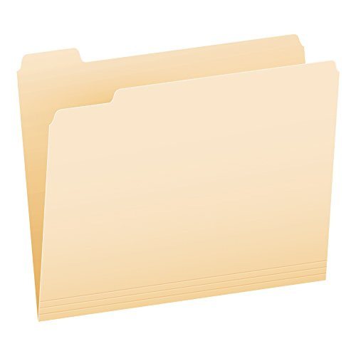 Pendaflex Essentials File Folders, Letter Size, 1/5 Cut, Manila, 100 per Box (752 ()