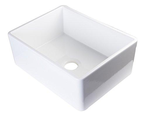 ALFI brand  AB505-W  26-Inch Contemporary Smooth Fireclay Farmhouse Kitchen Sink,