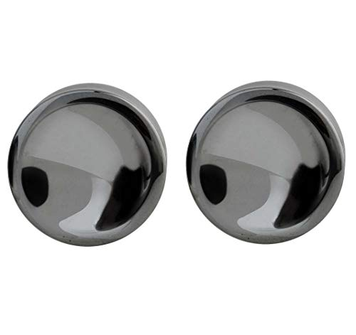 - Pierced Owl Natural Hematite Double Flared Saddle Plugs, Sold as a Pair (12mm (1/2