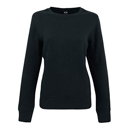 Oakley Women's Cotton Blend Crewneck Sweatshirt Blackout S