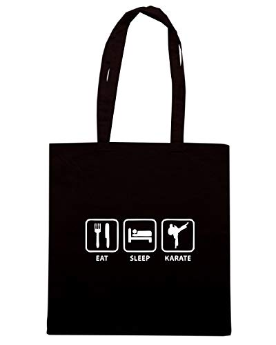 Speed Shirt Borsa Shopper Nera TAM0030 EAT SLEEP KARATE HOODIE