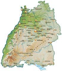 Poster Bild 40 X 50 Cm Landkarte Von Baden Wurttemberg Mit