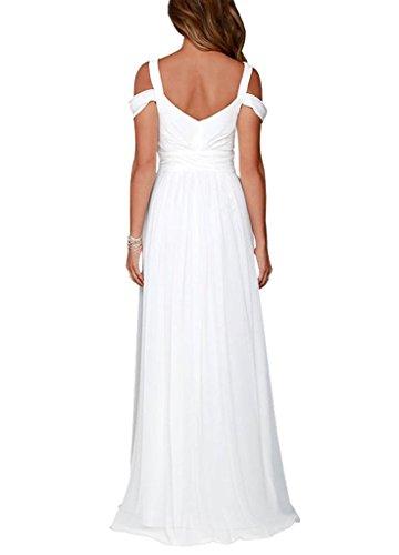 Ysmo - Vestido - trapecio - para mujer blanco