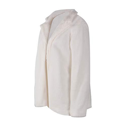 D'extérieur Cardigan S Ouvrir Décontractée Femmes Manteau Dames Vestes Veste Hiver Toogoo Doux Avant Chaud Mode Automne Vêtements Blanc 678B7pq