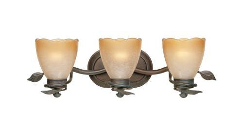 Designers Fountain 95603-OB Timberline 3-Light Bath Bar, Old Bronze