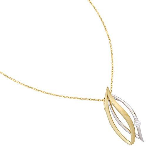 Pendentif brillant en diamant en or 585 pour femme teilmatt spitzoval