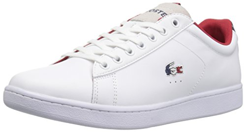 Lacoste Men's Carnaby EVO 317 3 Sneaker, White/Navy, 11 M US