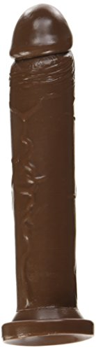 Si Novelties Cock with Suction, Brown, 9 inch, 16 Ounce
