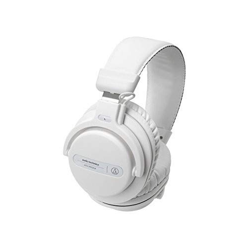- Audio-Technica ATH-PRO5XWH Professional Closed-Back Dynamic Over-Ear DJ Monitor Headphones, White