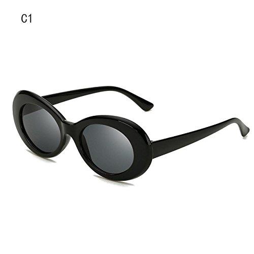 de ZHANGYUSEN Sol de Designer la C3 Men's Moda Gafas 2018 Forma Mujer Retro Sol Sra C1 de Nueva Gafas Ovalada Anteojos wrFIqrB
