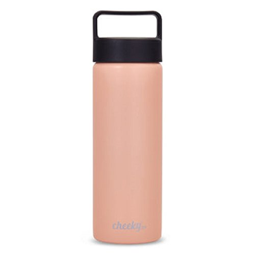 Cheeky Go 20 oz Insulated Stainless Steel Bottle with Screw Lid, Millennial Pink