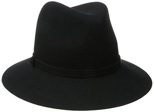 Karen Kane Women's Raw Edge Trilby Hat, Black, Medium/Large