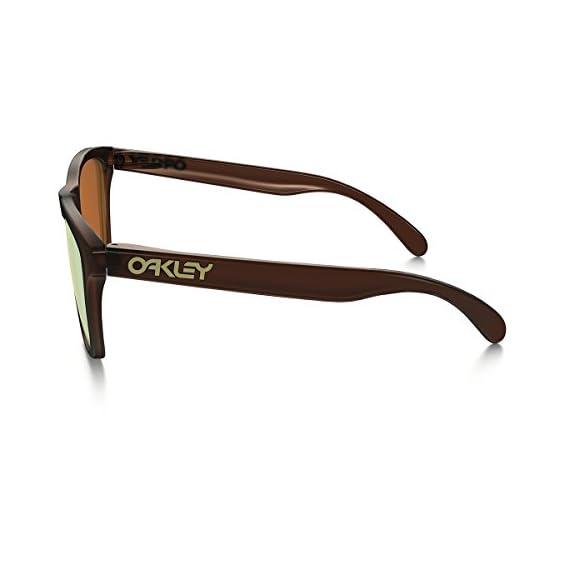 Oakley Men's Frogskins Non-Polarized Iridium Wayfarer Sunglasses 4 patented high definition optics (HDO) provides superior optical clarity and razor-sharp vision at every angle maximum clarity at all angles of vision with patented xyz optics glare reduction and tuned light transmission of iridium lens coating