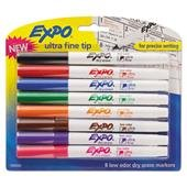 (EXPO 1884309 Low-Odor Dry-Erase Marker Ultra Fine Point Assorted 8/Set)