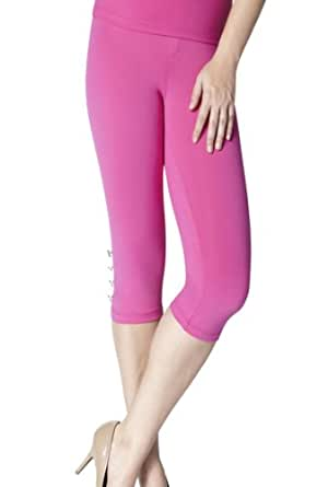 Slimming Capri By Luxxe® Raspberry (X-Small)