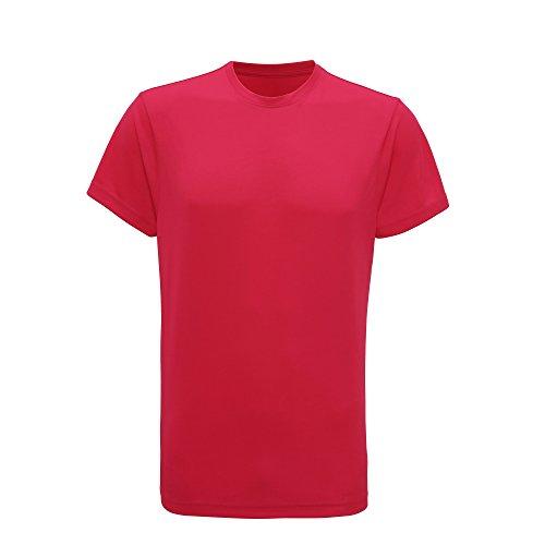 (Tri Dri Mens Short Sleeve Lightweight Fitness T-Shirt (L) (Hot Pink))
