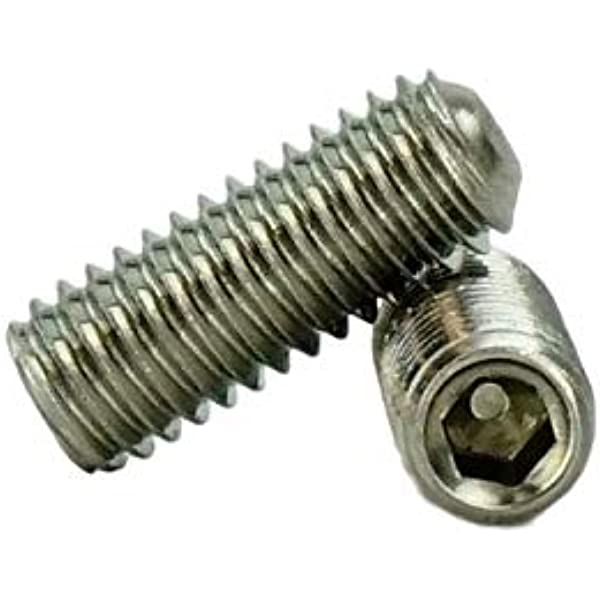 Socket Set Screw Cup Point 18-8 Stainless Steel #8-36 x 1//4 Qty-100