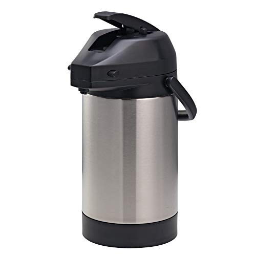 Economy Airpot - Service Ideas SVAP25L Economy Airpot with Lever, Stainless Steel Lined, NSF Listed, 2.5 L
