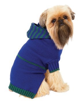 Fashion Pet Blue Dog Sweater Hoodie Extra Small, My Pet Supplies