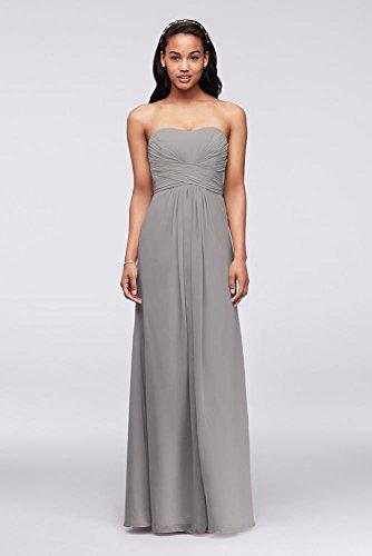 Chiffon Bodice (Long Strapless Chiffon Bridesmaid Dress and Pleated Bodice Style F15555,...)