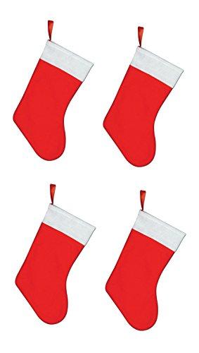 Alfombra de pasillo Beistle, 4 pieza, Rojo/Blanco, 1