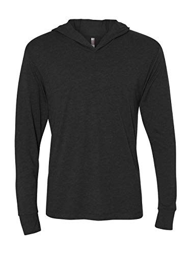 Next Level Unisex Triblend Long-Sleeve Hoodie N6021 -VINTAGE BLAC XL