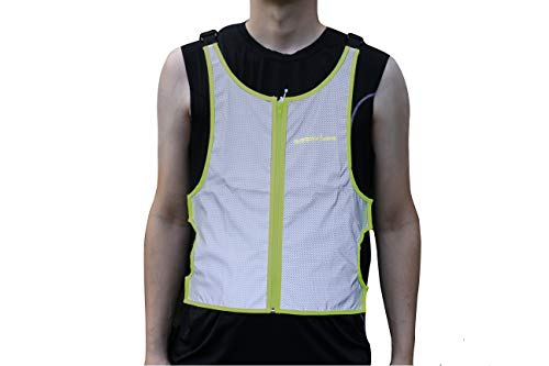 Runner's Goal VizMax 100% Reflective Running Vest by High Visibility Safety Vest with Zipper Pocket for Runners, Dog Walking, Cycling, Motorcycles & Joggers | Adjustable Straps to Fit Men & Women by Runner's Goal