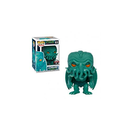 Funko - HP Lovecraft-Cthulhu (Neon Green Edition), Figura Multicolor, 3