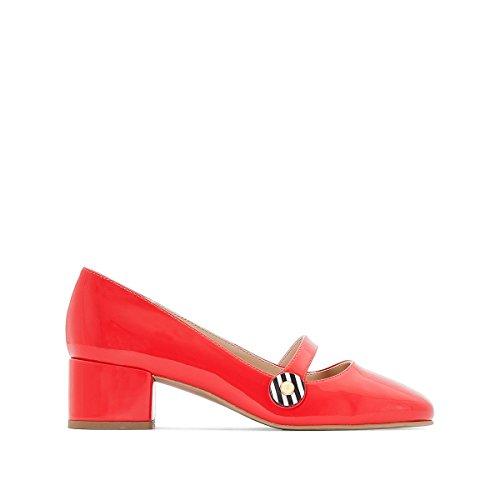 Mademoiselle R Frau Ballerinas mit Absatz und Schnalle Gre 37 Rot
