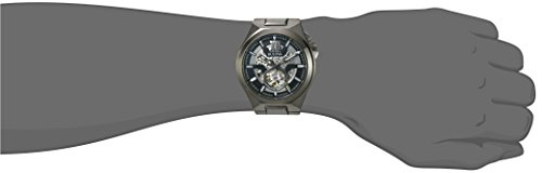 Bulova Men's Automatic-self-Wind Watch with Stainless-Steel Strap, Grey, 27 (Model: 98A179)
