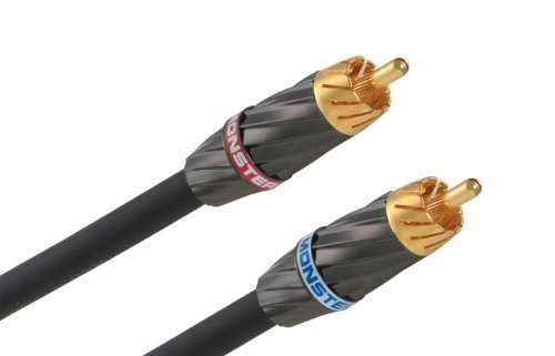 Monster Silver Ultra High Performance Stereo Audio Cable- 5 M.