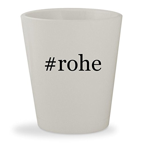 #rohe - White Hashtag Ceramic 1.5oz Shot Glass