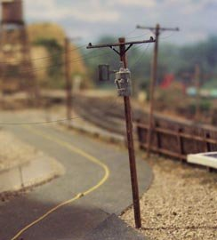 Osborn Models N Scale UTILITY POLES WITH 2 TRANSFORMERS Set of 8 Poles New Kit RRA3099