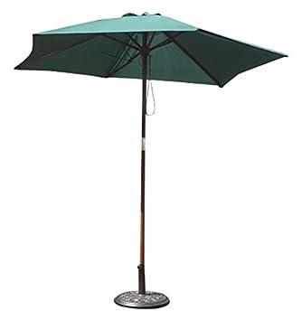 8bf3a57ef25 Kingfisher 2.4m Wooden Green Garden Parasol  Amazon.co.uk  Garden ...