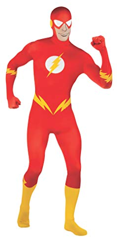 Rubie's Men's DC Comics 2nd Skin, Flash, Medium -