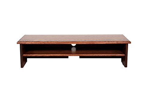 X-Large Triple Tier TV Riser 36x14x8 3 4 high Red Oak Stained Solid Hardwood