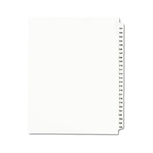 Avery Legal Dividers, Standard Collated Sets, 101-125 Tab Set (01334) ()