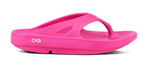 OOFOS Unisex Original Thong flip flop , Fuchsia, 10 M US Women /  8 M US - Kids Little Apparel Fuchsia