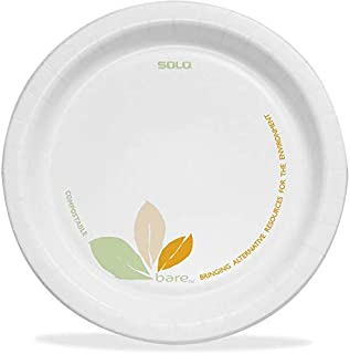 """product image for Dart OFMP6J7234 Bare Paper Eco-Forward Dinnerware, 6"""" Plate, Green/Tan (Case of 500)"""