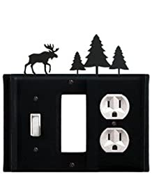 Egso-22 Moose & Pine Trees Gfi Switch Outlet Electric Cover