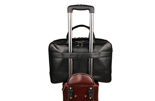 Texbo Men's Genuine Leather Business Trip Briefcase Large Bag Fit 17'' Laptop by Texbo (Image #6)