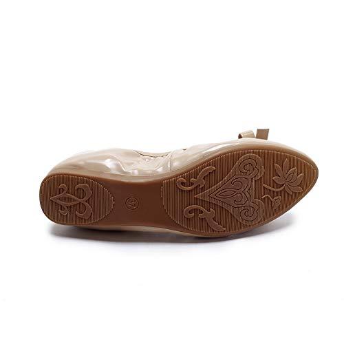 5 Compensées Sandales Femme Beige 36 EU APL10769 Abricot BalaMasa E70wqCnZxx