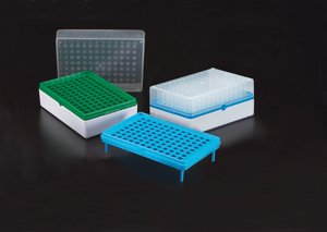 Simport BioTube T100-60G Polypropylene Grid Plate Only, Green (Case of 10) by SIMPORT SCIENTIFIC INC