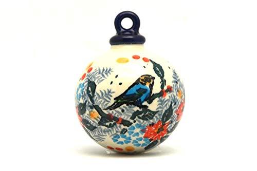 (Polish Pottery Ornament - Ball - Unikat Signature U3184)