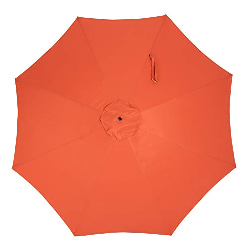 Crestlive Products Universal Patio Umbrella Replacement Canopy for 10ft 8 Ribs Offset Umbrellas Orange
