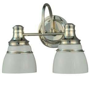 Martha stewart living 2 light seal harbor collection for Amazon bathroom vanity lights