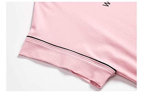 Corta De Verano Xl En Baujuxing El Dormir Pijamas Algodón Manga Doméstico Camisón Exterior Se Traje Un Pantalones Servicio Informal Usar Puede xxZT1wC